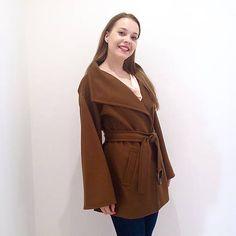 LuxuryCouture / Kašmírový kabát Max Mara krátky