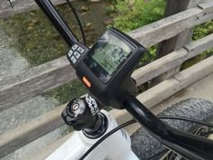 """""""The LCD console on this bike isn't removable but it does swivel and the readouts are large. You've got your speed, assist level and a really nice battery level indicator with ten bars."""" #fatbike #ebike #electricbike"""
