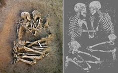 Eternal love and beauty - The Lovers of Valdaro. Neolithic human skeletons found in Valdaro, near Mantua, Italy, in 2007