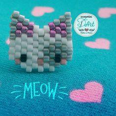 Chat brick stitch miyuki