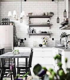 Monochrome Madness. A little kitchen inspo to brighten your day.
