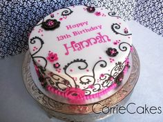 Image result for birthday cakes for teenage girls cartoon