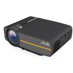 Artlii Vivi Projector 1200 Lumens Home Theater Projector Support 1080P LED LCD Projector (Black)
