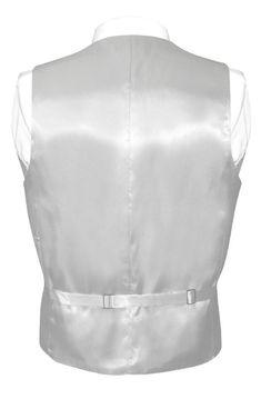 Silver Grey Vest and Bow Tie   Silk Solid Color Vest BowTie Set Dress Vest, Silk Dress, Aqua Blue Color, Gray Color, Vest And Bow Tie, Bow Ties, Black Waistcoat, Workout Vest, Brand Collection