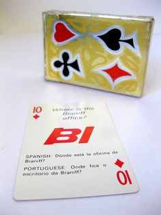 Braniff International Airlines Language Cards designed by Alexander Girard