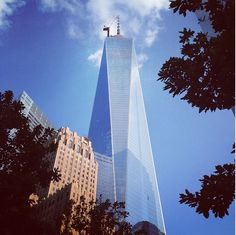Looking up at the new WTC. #NewYorkCity