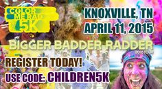 April 11, 2015: Color Me Rad returns to Knoxville this spring and registration is now open! Use code CHILDREN5K to save 5% on the registration fee and have 15% of the proceeds go to East Tennessee Children's Hospital. http://www.etch.com/colormerad
