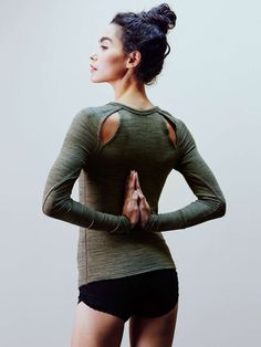 """wantering-blog: """"Strike a Pose FP Movement Peekaboo Layering Top. Click here for more stylish yoga gear for your classes. """""""
