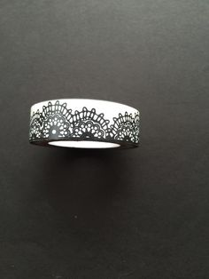 Lace black and white washi tape by CreativeJacob on Etsy