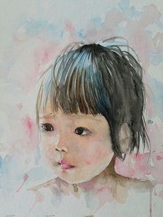 """""""Sweet Lips"""" 11 x 14"""" watercolor"""