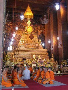 https://flic.kr/p/5UWs3   Ordination of a new monk, Wat Po in Bangkok