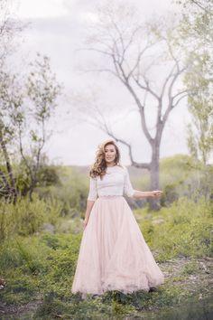 WISP. Bride in @watterswtoo Lanikai top and Ahsan Skirt