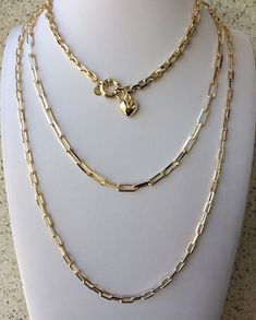 Chunky Chain Necklaces, Trendy Necklaces, Jewelry Necklaces, Bracelets, Jewellery, Brass Jewelry, Vintage Jewelry, Jewelry Accessories, Fine Jewelry