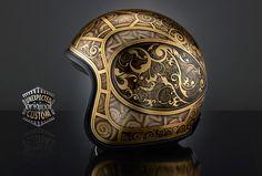 Custom motorcycle helmetJUGENSTIL 3, PremierVIntage Carbon - UNEXPECTED CUSTOM