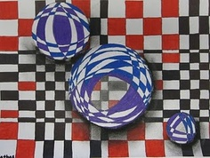 "Op Art ""Floating Spheres"""