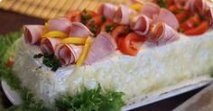 Kinkkuvoileipäkakku - Smörgåstårta with ham and cheese
