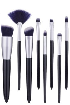 prom makeup with Dark blue makeup brush set foundation brush Eye Brushes, It Cosmetics Brushes, Blue Makeup, Prom Makeup, Travel Brushes, Synthetic Brushes, Small Cosmetic Bags, Cool Gifts For Women, Concealer Brush