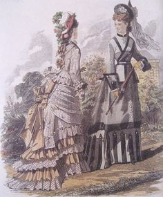 Historical Serwing:June 1875 fashion plate  I want to make the one on the left!