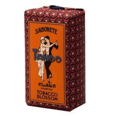 Tango soap by Claus Porto from Portugal. I might buy it only for the design.