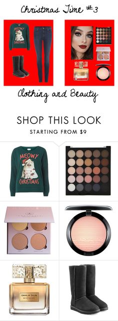 """""""Christmas Time- Sweaters #2!"""" by itsabistoneofficial ❤ liked on Polyvore featuring Dorothy Perkins, Forever 21, MAC Cosmetics, Givenchy, UGG and J Brand"""