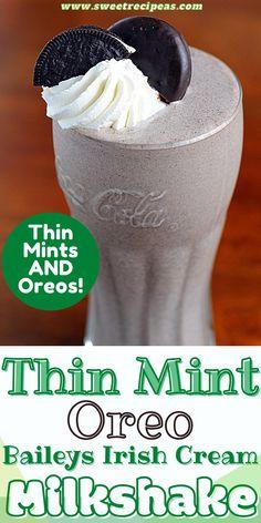 Baileys Milkshake, Milkshakes, Mint Oreo, Thin Mint Cookies, Baileys Irish Cream, Thin Mints, Getting Drunk, Oreos, Ice Cream