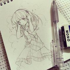 really cute :) like the headphones and hair