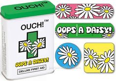 Oopsy daisy! These bandages will help you look and feel awesome while your cuts and scrapes heal.