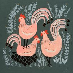 Three french hens.