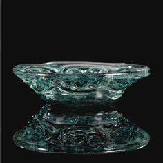 Fatimid Shallow Glass Dish  --  9th-10th Century  --  Likely Egypt.