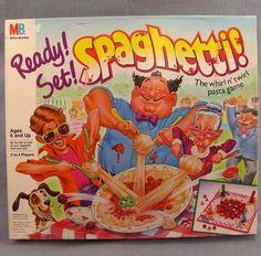 Ready Set Spaghetti Boardgame Vtg 1989 Board Game Milton Bradley Twirl Pasta #MiltonBradley