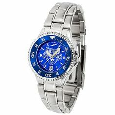 Kentucky Wildcats 2012 NCAA National Basketball Champions Women's Competitor AnoChrome Steel Watch - Colored Bezel by SunTime. $104.50. Dual-button and inner deployment clasp. Vibrantly colored team logo. 5 ATM water resistant. 44mm stainless case. Stainless Steel Watch. Make sure you know when this game is with this Kentucky Wildcats 2012 NCAA National Basketball Champions Women's Competitor AnoChrome Steel Watch - Colored Bezel. The Kentucky Wildcats watch is...