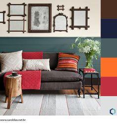 sofá marrom combina com o que - colorido