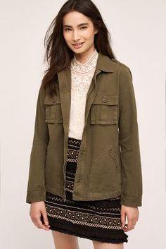 Beth Military Shirt Jacket
