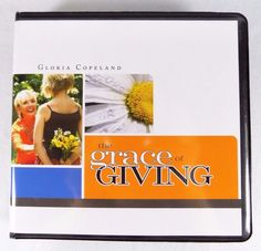 "#Pastor Kenneth and Gloria #Copeland #Christian #Ministries four (4) piece/count pc. ct. ""The Grace of Giving"" #audio #CD CD-ROM audio-book #religious & #spiritual #teaching #disc #series with #devotional #sermon messages, brand new & unused in clear plastic sealed protective shrink-wrap packaging & black clam-shell case with original paper cover art paper insert…"