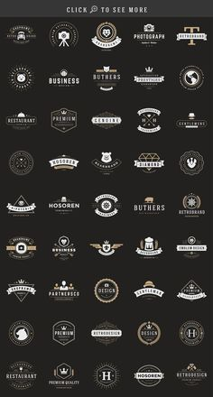 150 Retro Vintage Logotypes by Vasya Kobelev on logo logotype brand branding ideas inspiration template creative design handmade vintage retro is part of Vintage logo design -