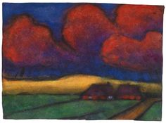 Emil Nolde, Marschlandschaft (Marsh Landscape), Date Unknown Emil Nolde, Edvard Munch, Abstract Landscape, Landscape Paintings, Abstract Art, Kitsch, Gravure Photo, Art For Art Sake, Art Auction