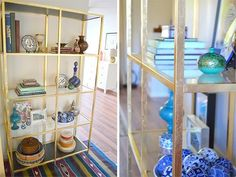 The IKEA VITTSJÖ: 5 Colorful Hacks== Inspired by Ana Antunes, this is a gold-leafed hack, by Honey Sweet Home.