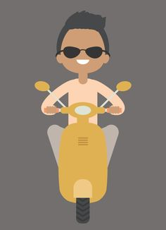 Where was this 2 months ago???   How to Create an Illustration of a Boy on a Scooter in Adobe Illustrator