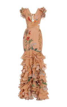 Yemanya - Long dress with a deep V-neckline -  #Deep #Dress #Long #neckline #Vneckline #yemanya