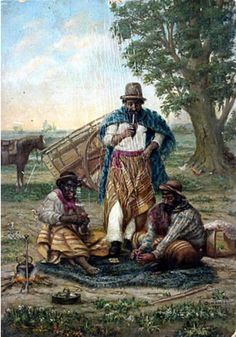 """BD - """"UN ALTO EN EL CAMINO"""" - 1897 Rio Grande Do Sul, One With Nature, Black Art, Cowboys, Mythology, Serenity, Folk, Survival, Cartoon"""