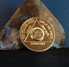 Alcoholics Anonymous Vintage Gold Plated 15 Year AA Back Medallion Chip Coin | eBay