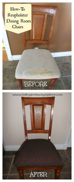 How-To Reupholster Dining Room Chairs {DIY}