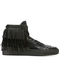BUSCEMI Fringed Hi-Top Sneakers. #buscemi #shoes #sneakers
