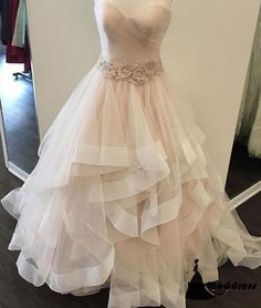 Sweetheart Long Prom Dress A-Line Sleeveless Tulle Evening Dress Wedding Dress,HS410 #fashion#promdress#eveningdress#promgowns#cocktaildress