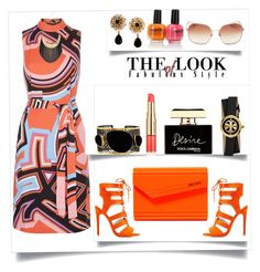 """""""Emilio Puccini Jersey. Dress"""" by helenaymangual ❤ liked on Polyvore featuring Emilio Pucci, Kate Spade, Mela Artisans, Tory Burch, GUESS by Marciano, Estée Lauder, Qupid, Dolce&Gabbana and Jimmy Choo"""