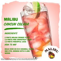 The Pina Colada's fruity sibling, introducing the Malibu Cancun Colada made with Malibu Orange Float!