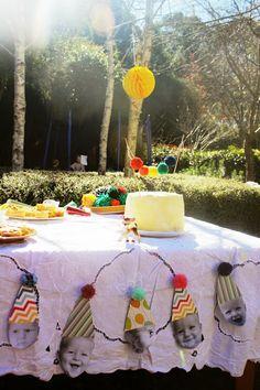 pom pom party - baby boy's first birthday
