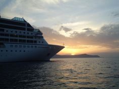 The Azamara Quest in Santorini, submitted by Marcia