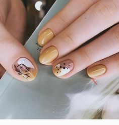 145 spectacular nail art designs ideas for prom to try right now Stylish Nails, Trendy Nails, Cute Nails, Minimalist Nails, Simple Nail Designs, Nail Art Designs, Hair And Nails, My Nails, Modern Nails