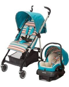 This travel system folds into a compact stroller for easy storage. The bohemian blue color makes it stand out from the crowd.
